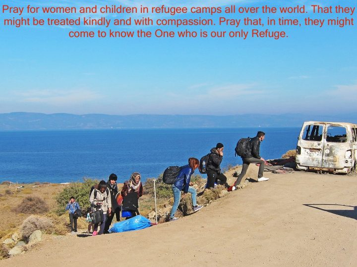 Pray for women and children in refugee camps